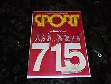 May 1974 Sport Magazine-Atlanta Braves Hank Aaron