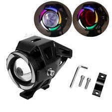 CREE U7 LED 125W Headlight Driving Fog Light Spot Lamp Multicolor Angel Eyes