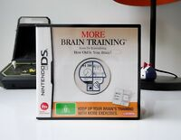 MORE BRAIN TRAINING FROM DR KAWASHIMA: HOW OLD IS YOUR BRAIN? - DS   GC