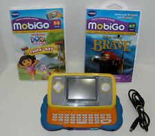 Mobigo handheld touch learning system yellow  blue 2 games + usb Vtech