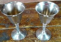 Set of 2 Chalices F B Rogers Silverplate Cups Italy Silver Stemware