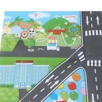 Giant City Road Scene Traffic Play Mat Childrens Car Road Carpet Rug Toy AL