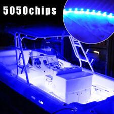4X 12 LED/1Ft 5050 SMD Boat Deck Bow Pontoon Interior Lights Kit Blue Waterproof