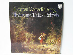 LP German Romantic Songs - SIGNED BY ELLY AMELING & DALTON BALDWIN !