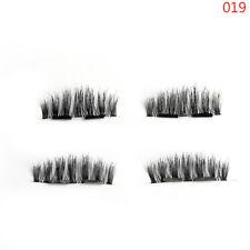 SKONHED 4 Pcs Lashes/box Doubel Magnetic False Eyelashes No Glue No Messy