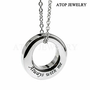 NEW Urn Necklace For Ash Ring Circle of Life Cremation Pendant Memorial Jewelry