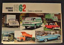 1962 Chevrolet Truck Brochure Pickup Suburban Panel Corvair 95 Tilt Cab COE 62