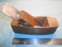 ANTIQUE SCIOTO WORKS #3 FLAT BOTTOM COFFIN BLOCK WOOD PLANE OHIO THISTLE BLADE