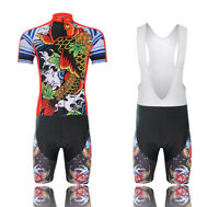 Men Bicycle Short Sleeve Jersey + (Bib) Shorts Cycling Clothing Bike Sports Wear