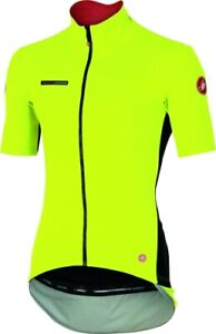 Castelli Men's Perfetto/Gabba Light Fluo Yellow SS Cycling Jacket Large