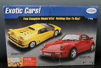 Exotic Cars Model Car Testers Lamborghini Diablo, Porsche 911, Open Box, L-1608
