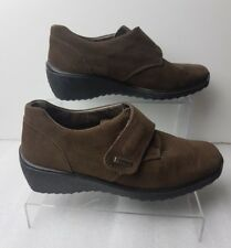 ROHDE SYMPATEX Ladie's Brown Nubuck Waterproof Breathable Flat Shoes Size UK 3