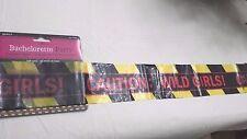 Bachelorette Party Favors Party Caution Tape Decoration Caution Wild Girls 30 ft