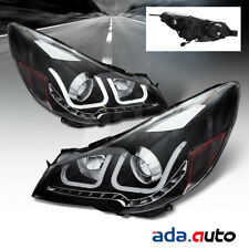 "Fit 2010-2014 Subaru Outback Legacy ""Shark"" CCFL Tube Black Projector Headlights"