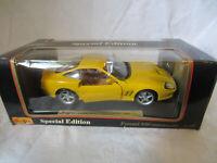 Maisto Ferrari 550 1996 Maranello 1:18 Yellow Die Cast Car Collectible