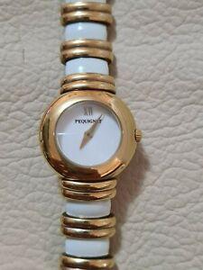 Vintage PEQUINET Mauria 5746 Gold & Porcelain Quartz Women's