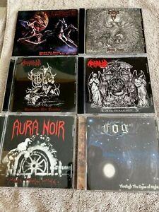 Black / War / Death Metal CD lot Destroyer 666 Blasphemy Abominator Aura Noir