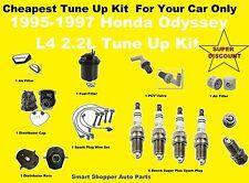1995-1997 Honda Odyssey Tune Up Kit Spark Plug Wire Set, Oil Air Filter, PCV Val