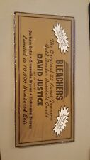 1992 Bleachers 23 Karat gold of David Justice, Durham Bulls, Greenville Braves