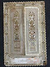 TRES BEAU CANIVET IMAGE PIEUSE HOLY CARD à volets L'assomption Pl 254