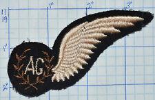 RAF WW2 BRITISH ROYAL AIR FORCE  INSIGNIA ON FELT AIR GUNNER WING AG PATCH