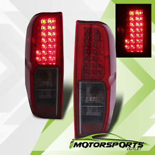 For 2005-2017 Nissan Frontier Red Smoke LED Rear Brake Tail Lights Lamps Pair
