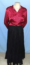 Timeless & Classic George Long Sleeve Blouse Size Large Silky Polyester Fabric F