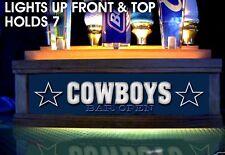 Lighted COWBOYS TAP HANDLE HOLDER LIGHTS UP FRONT & TOP HOLDS 7