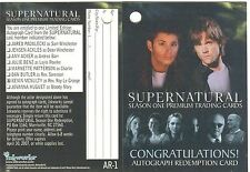 Supernatural Season 1 AR-1 Used Clean Redemption Card A7