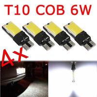 4pcs T10 COB 6W W5W 194 168 LED Canbus Error Free Side Wedge Light Lamp Bulb