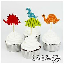 12x Dinosaur FOAM TOPPER pick.  Party Supplies Jelly Cupcake Cake Lolly Loot Bag