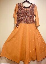Designer Custom Stitched Cotton Kalamkari Anarkali Gown SALE !! Size 42