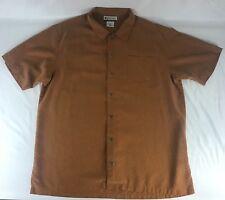 Men's Columbia Sportswear Size XL Orange Short Sleeve Button Down Pocket Shirt