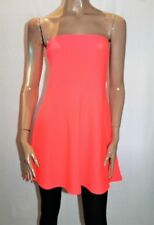Divided H&M Brand Orange Bandeau Skater Style Dress Size 10 BNWT #SZ65