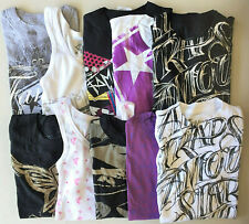 FAMOUS STARS & STRAPS Womens Shirts NEW GIANT LOT OF 10 Size Small Rare Designs