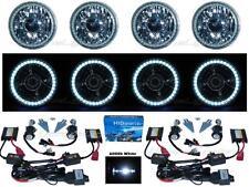 "5-3/4"" Projector SMD White LED Halo 6000K HID Bulb Metal Headlight Angel Eye Set"