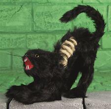 30cm Standing Black Skeleton Cat Cemetery Halloween Horror Scary Prop Decoration