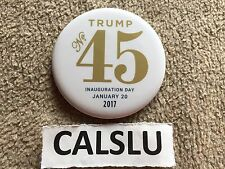2017 DONALD TRUMP ☆OFFICIAL☆ 45TH ☆PRESIDENTIAL INAUGURATION☆ WHITE PIN BUTTON