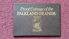 1980 FALKLAND ISLANDS PROOF COINS SET COVER- PAPER CASE ONLY-NO COINS!