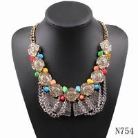 2019new arrival chunky crystal necklace statement elegant spring popular pendant