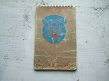 Vtg 1962 Us Army Soldiers Notebook Used Writing Pad Information Notes Directions