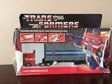 Hasbro 1984 Transformers G1 Autobot Commander Optimus Prime Trailer Complete Box