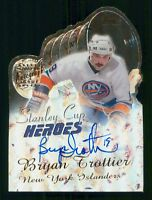 BRIAN TROTTIER 00-01 TOPPS STANLEY CUP HEROES AUTOGRAPH 2000-01 SCH-BT  23505