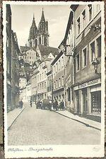 AK ca. 1940: Framo Dreirad no Tempo Goliath Manderbach Ostner Meißen Burgstraße