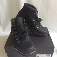 UGG BOYSEN TL BLACK WATERPROOF LEATHER/SHEEPSKIN SNOW BOOTS SIZE US 8 NEW