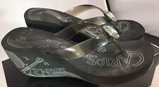 Women's Carlos by Carlos Santana Totem Wedge Sandals with Music Graphics  9 M