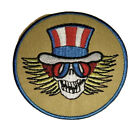Psycle Uncle Sam Skull With Wings GRATEFUL DEAD Patch Garcia Music Patriotic