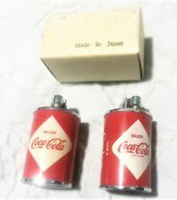 Two 1960's ENJOY COCA COLA CAN LIGHTERS one is mint in box