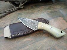 MH KNIVES CUSTOM HANDMADE DAMASCUS STEEL FULL TANG HUNTING/SKINNER KNIFE MH-395W
