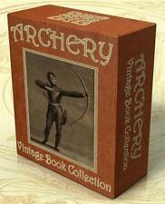 ARCHERY 37 Vintage Books on CD-Rom, Archers, Crossbow, Longbow, Bow and Arrow